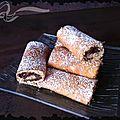 Minis roulés chocolat