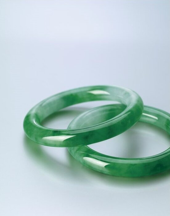 Rare Pair of Jadeite Bangles2