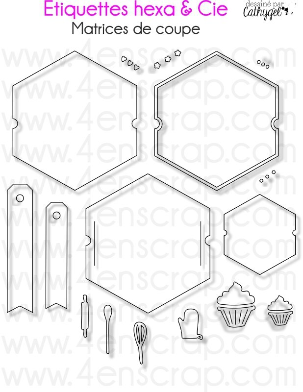 Image Etiquettes hexa M93