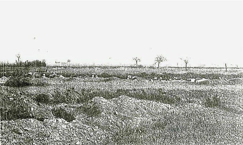 Méry ligne de front juin 1918