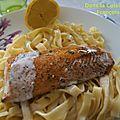 Pavé de saumon au sirop d'erable