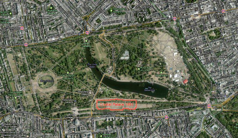 Crystal Palace at London Hyde Park