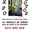 L'exposition photos de la chapelle de surieu, c'est ce week-end, 16 & 17 mars 2019 !
