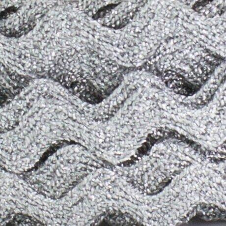Serpentine 10 mm lamé argent au mètre
