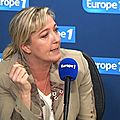 Marine le pen sur europe 1 le 12/09/2014