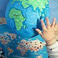 Diy globe terrestre d'inspiration montessori (le kit de pandore)