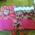 pochette rose et prune