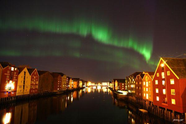 aurore boréale Trondheim