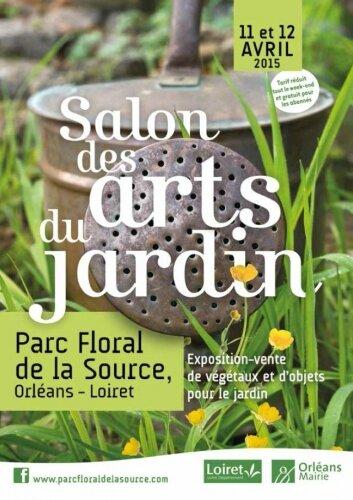 Affiche Salon des Arts du Jardin à Orléans 2015