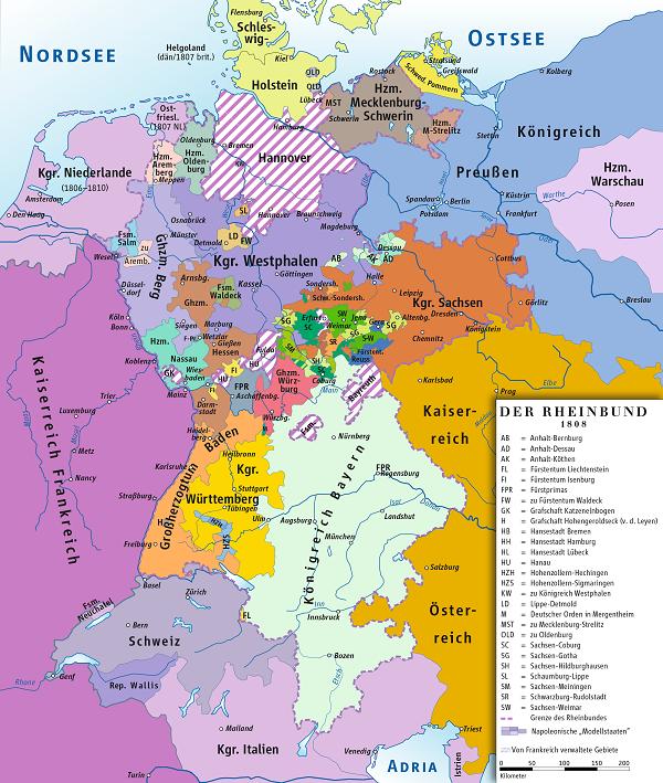Rheinbund_1808,_political_map