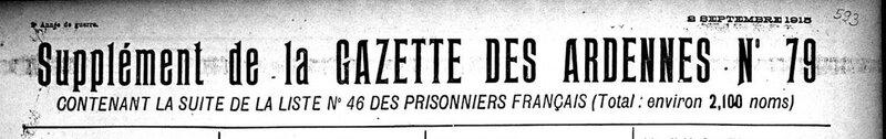 gazette des Ardennes