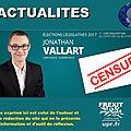 Election législative partielle dans le territoire de belfort : le débat ! (l'upr censurée!)