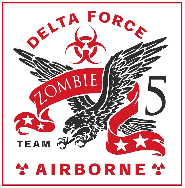 Zombie - zombie outbreak - Zombie party - Zombie response - Zombie hunter - Zombie team - biohazard - Printables - labels - Halloween - Airbone - Special force - Delta force