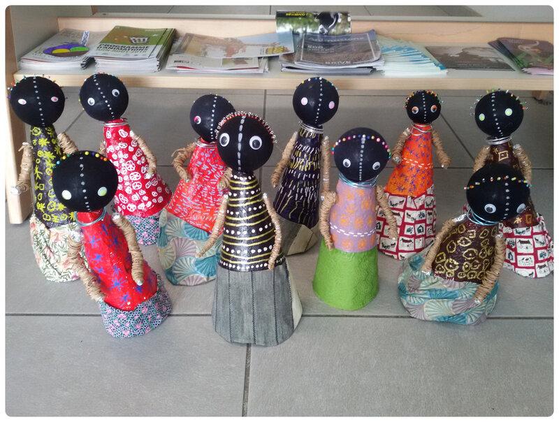 DIY poupée africaine Cam&Drey bricolent