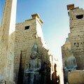 Le Temple de Louxor, les pylônes d'entrée