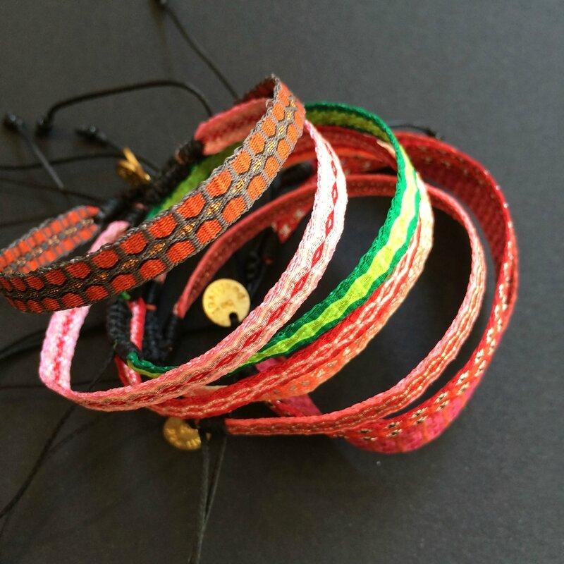 GUANABANA bracelets tressés Colombie printemps été 2015 boutique Avant-Après 29 RUE foch 34000 Montpellier