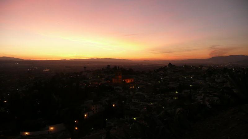 Grenade, coucher de soleil