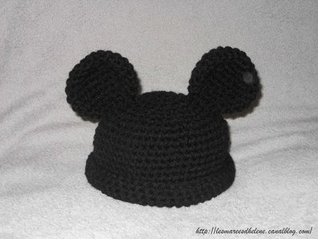 Bonnet Mickey Crochet