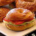 Bagels végétariens pour le défi pique-nique...