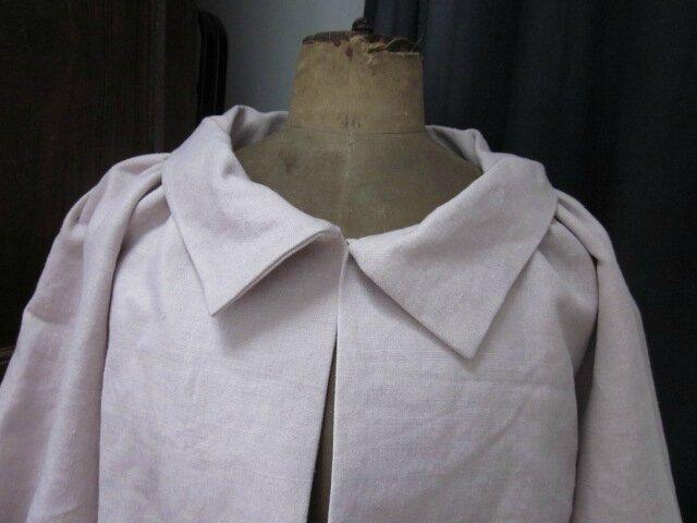 Veste Blanche en lin rose poudré (3)