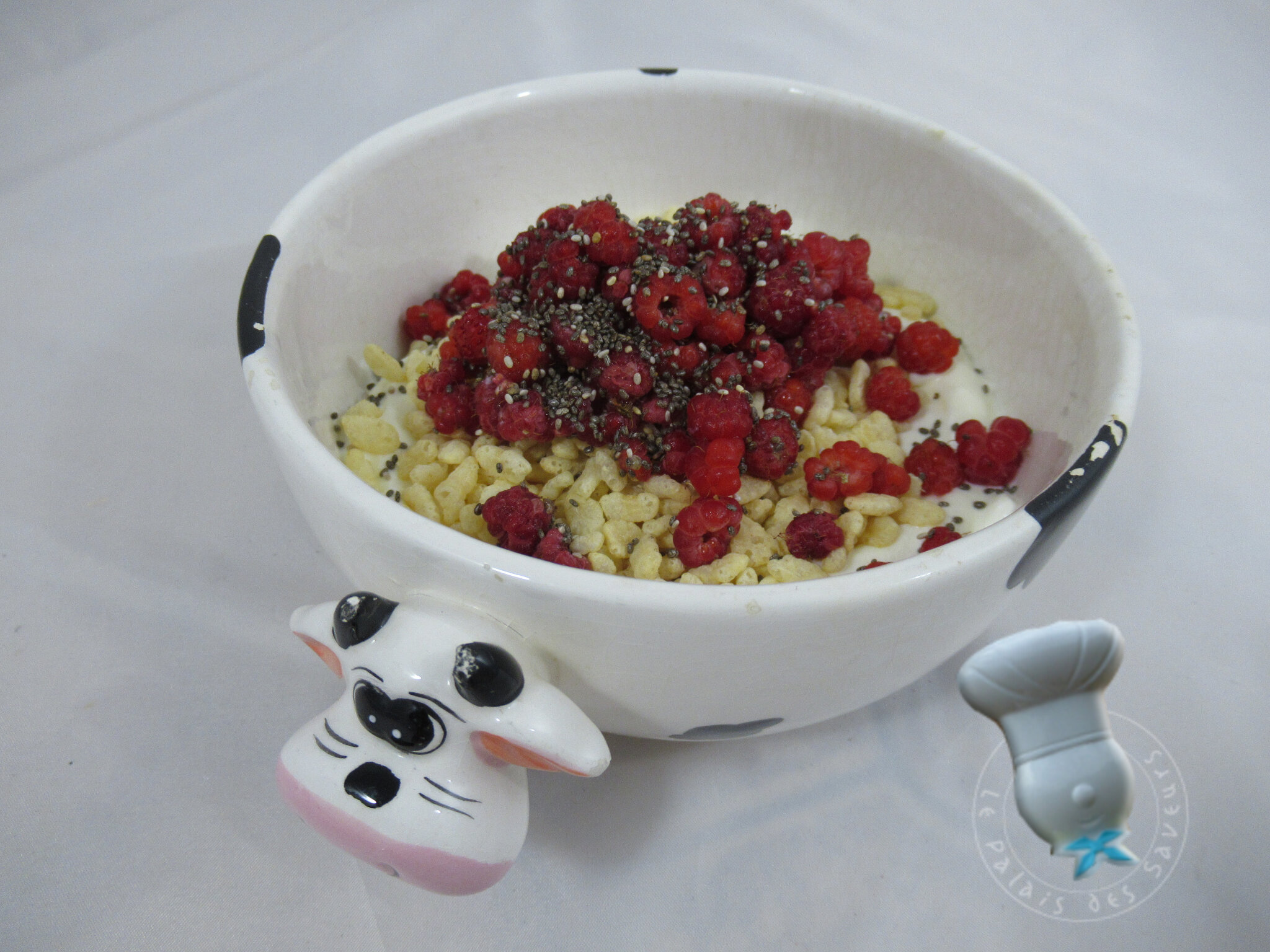 Fromage blanc aux framboises sauvages