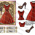 Copie de robe vintage rouge