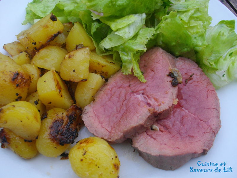 Roti De Boeuf Au Four Et Pommes Sautees Cuisine Et Saveurs De Lili