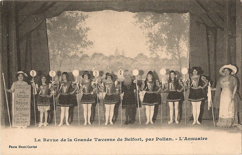 Belfort CPA Fbg France n°35 Grande Taverne Spectacle Annuaire