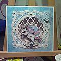 Carte 3d licorne magique