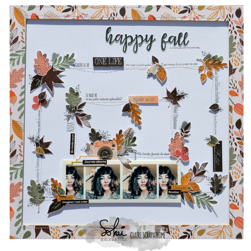 page - happy fall - matrice - collection So Fall- claire scrap at home- sokai