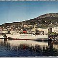 Bastia 2 - le Napoléon à quai - datée 1966