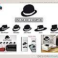 Stickers : thème cinéma chapeau