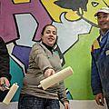 Opération peinture au local jeunes