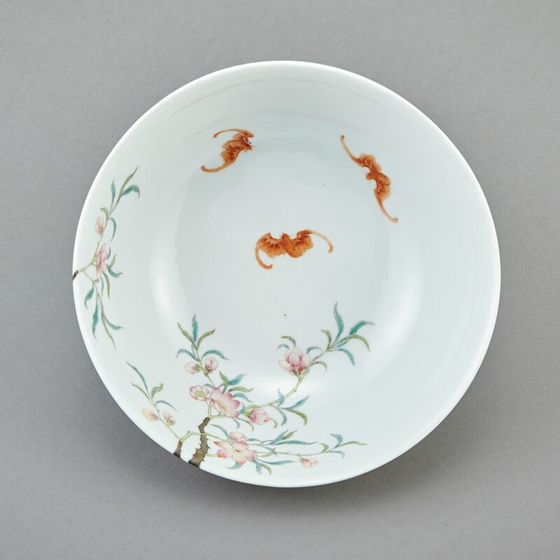 Chinese Famille Rose Enameled Porcelain Bowl, Qing Dynasty2