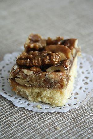 Barres sablés aux noix et chocolat blanc 1