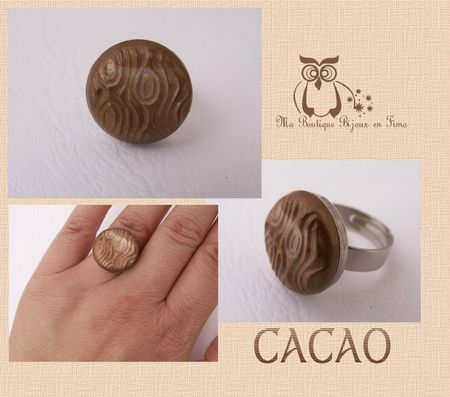 Bague CACAO ronde