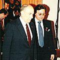 François Mitterrand Président de la Républqiue et Alain Goze Pt.