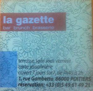 La Gazette Carte de visite j&W