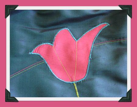 détails appliqué fleur