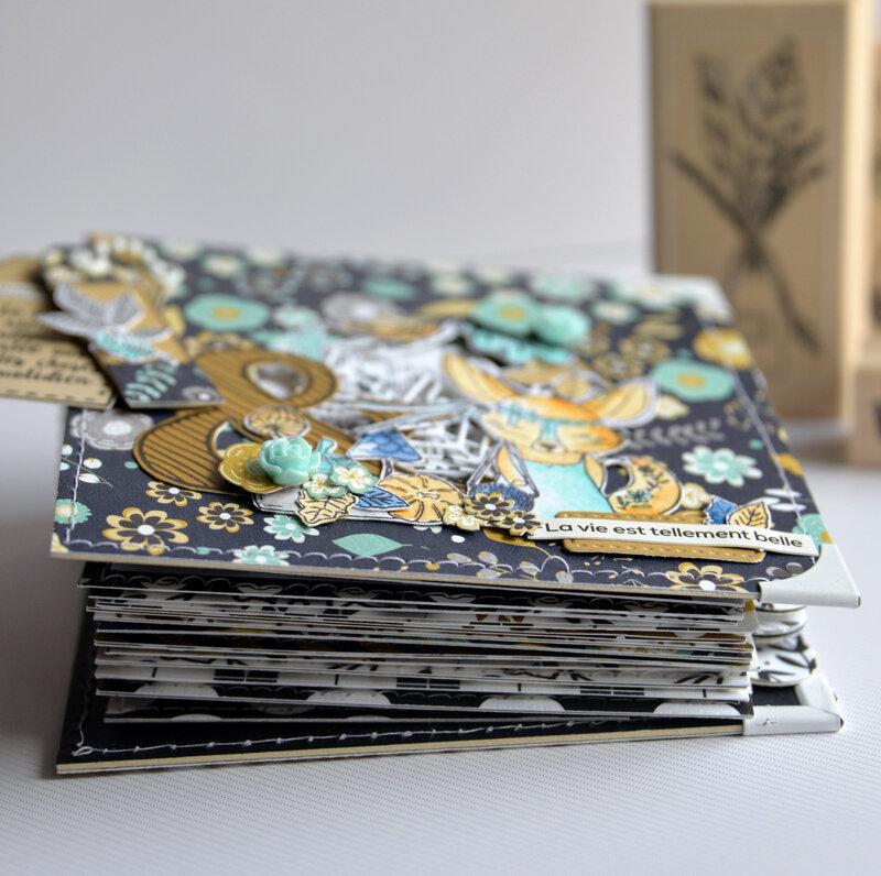 mini carré la vie est tellement belle - collection Esprit Folklore- octobre18- epaisseur-claire- scrapathome- Chou&Flowers