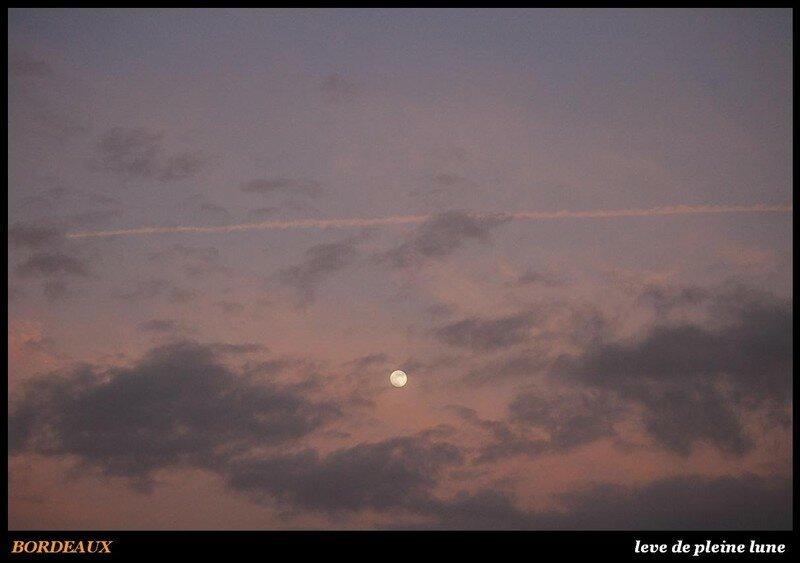 BORDEAUX - leve de pleine lune