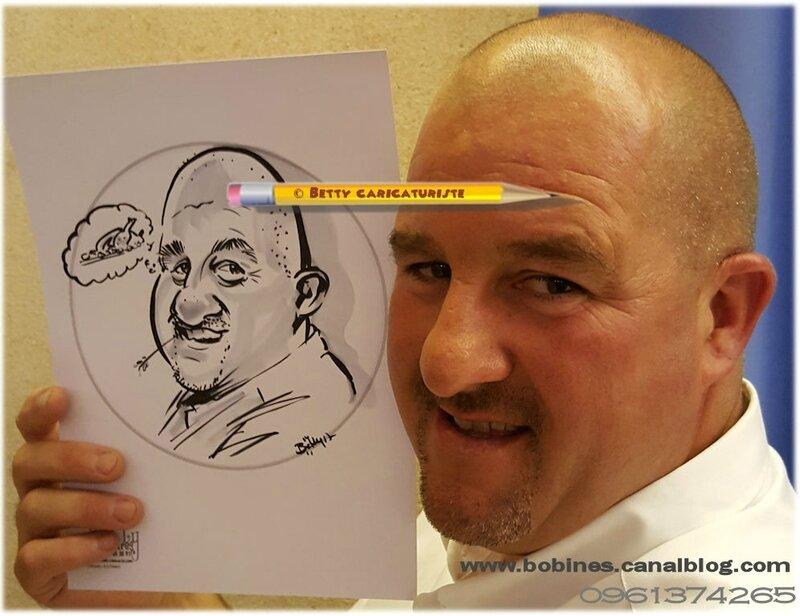 caricature caricaturiste gros nez obese tondu chauve mariage montbeliard besancon pontarlier