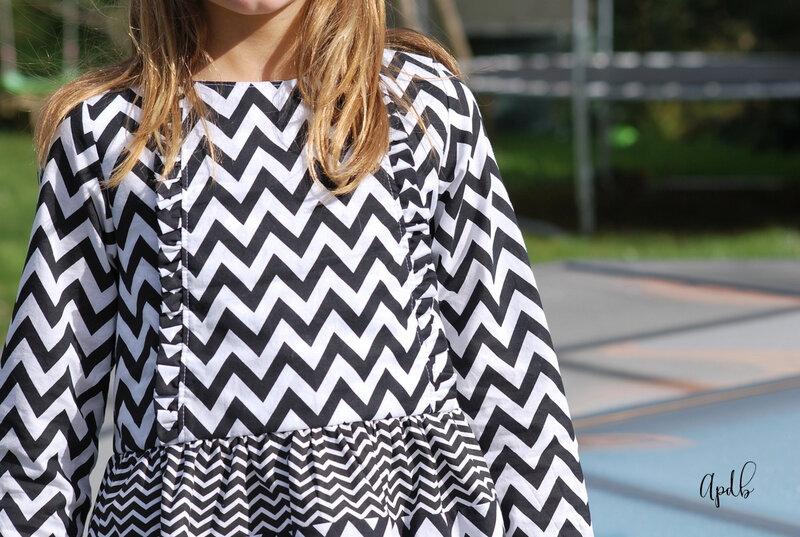 blouse Camélice à chevrons-002