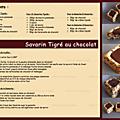 Savarin tigre au chocolat