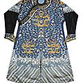 A blue-ground embroidered dragon robe, jifu, qing dynasty, daoguang period (1821-1850)