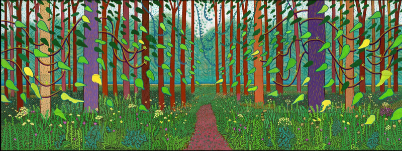 David Hockney, 'The Arrival of Spring in Woldgate, East Yorkshire in 2011 (twenty eleven)',