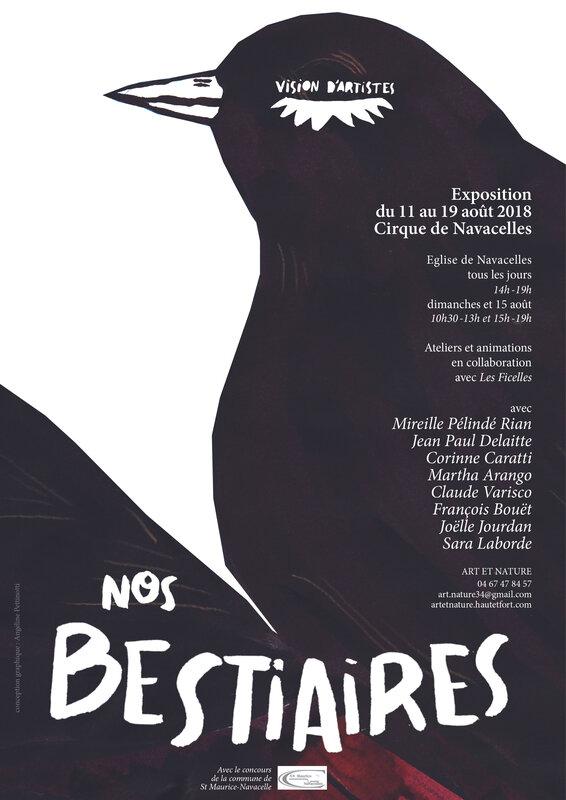 Affiche Exposition au Cirque de Navacelles