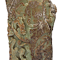A large yellowish-green and brown jade archaistic vessel, ming-early qing dynasty, 14th-17th century