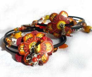 bracelets_fleurs_cuir