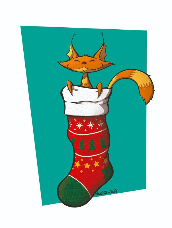 chat chaussette 4B couleurs copie
